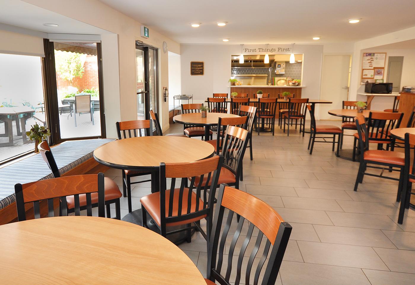 Munro Centre dining room